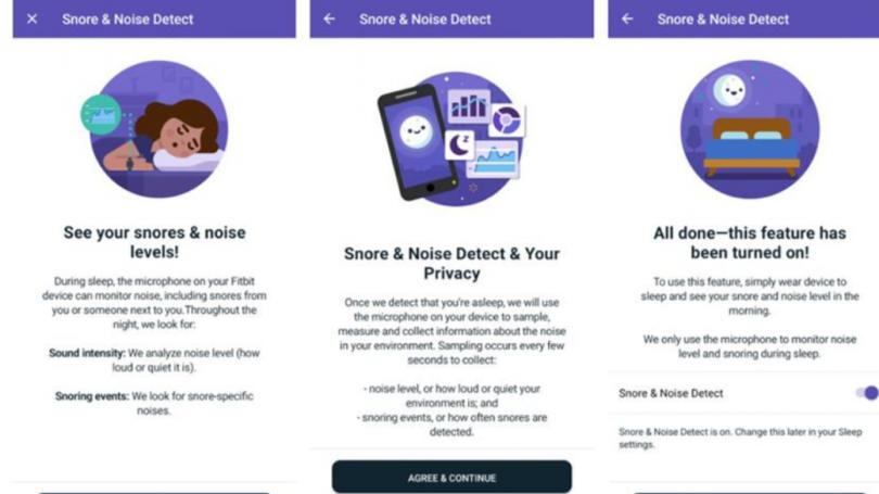 Fitbit kan tracke og registrere din snorken