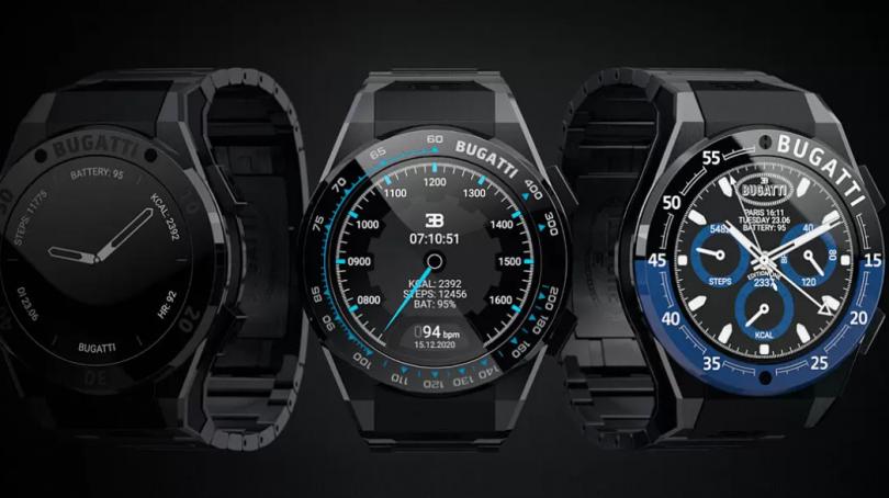 bugatti smartwatch alle tre