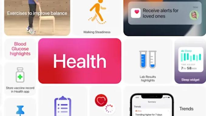 Apple Sundhed kan dele data med læger og andre i familien