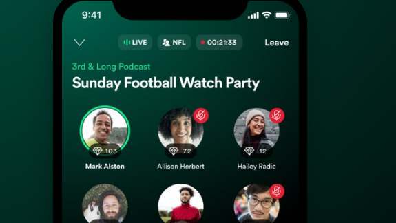 Spotify Greenroom skal konkurrere med Clubhouse og Twitter Spaces