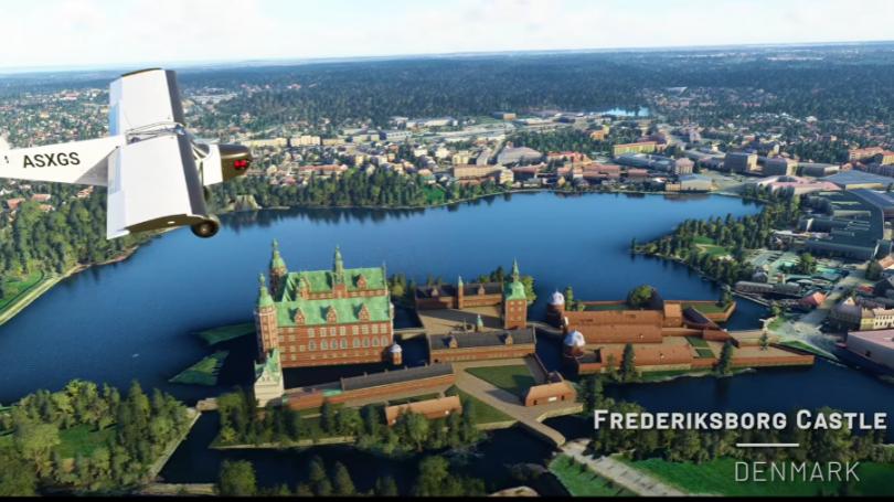 Microsoft Flight Simulator har nu også flotte billeder af Danmark