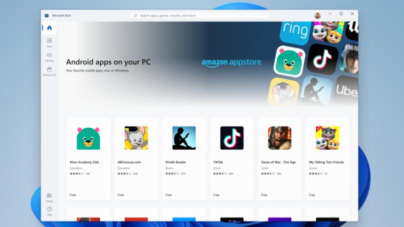 Windows 11 kan køre Android apps