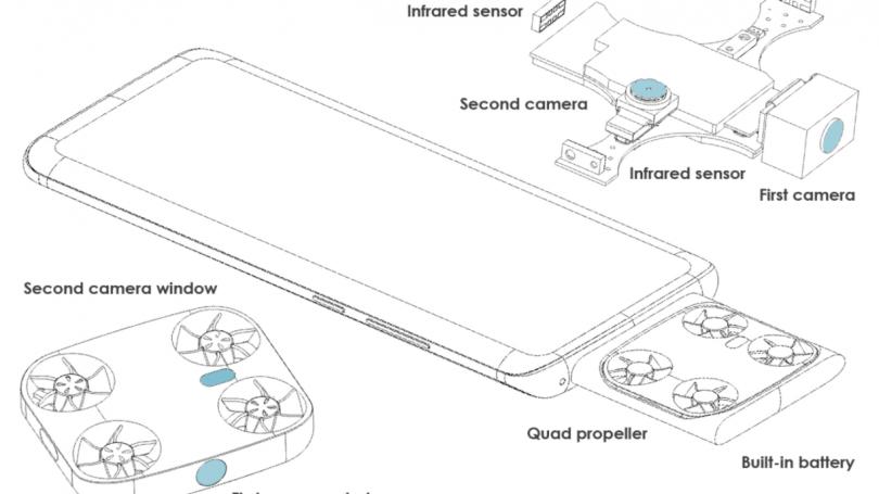 Stor mobilproducent tager patent på smartphone med indbygget minidrone