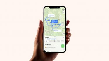 Apple Maps i iOS 15 advarer om vejret