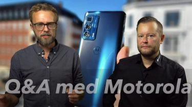 Q&A med Motorola Danmark i studiet