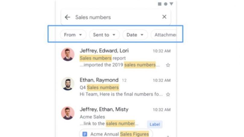 Gmail-søgning i Android bliver bedre