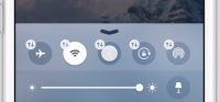 ios 10 flyt knapper på kontrolcenter