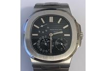 Orologio con cassa e cinturino in acciaio marca Patek Philippe, automatico, fasi ...