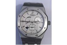 Orologio con cassa e cinturino in acciaio marca Audemars Piguet, automatico, ...