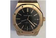 Orologio con cassa e cinturino in oro 18 kt.marca Audemars Piguet, mod. Royal Oak