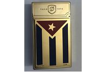 Accendino in metallo dorato con riporti in oro 18 kt., marca Zippo
