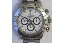 Orologio con cassa e cinturino in acciaio marca Rolex, automatico, cronografo, ...