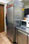 N.1 frigorifero ''angelo'' con due sportelli in acciaio