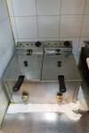 N.1 friggitrice in acciaio a due vasche