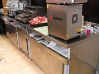 Tavolo in acciaio inox, retrobanco macelleria e salumeria, 2mx0,80m