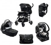 N.1 Trio chicco '' Black Lebel'' + marsupio + kitcar super accessoriato di colore ...