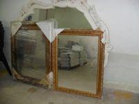 N. 5 Specchiere rettangolari con cornice in oro