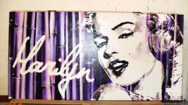 Stock di 3 quadri Marylin Monroe decorati a mano