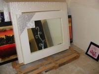 N.1 Specchio in foglia argento e strass