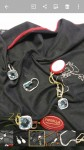 Trittico orecchini, collana con ciondolo e anello in oro bianco 18Kt e topazi ...