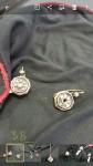 N.1  Orecchini in oro 18Kt stile antico con rose di diamante , fattura buona Peso 6,8 ...