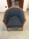 n. 7 poltroncine con struttura in legno con seduta singola