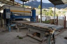 Rotobocciardatrice sabbiatrice per lastre di materiale lapideo, Pellegrini; ...