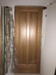 Lotto 66 - Porta interna in legno noce chiara