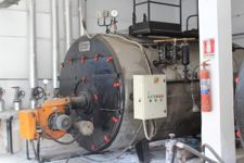 Gruppo centrale termica caldaia (generatore di vapore da 2.500 Kg/h) di marca ...