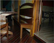 Panche in legno a forma rettangolare a due posti