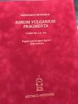 Libro Rerum Vulgarium Fragmenta Canzoniere Petrarca Antenor, Volume 1
