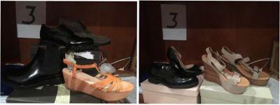 Stock composto da: n. 1347 paia di calzature, accessori uomo-donna e attrezzature ...