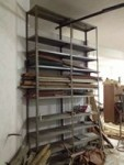 Scaffalatura metallica, dimensioni: larghezza 185 cm, altezza 345 cm, ...