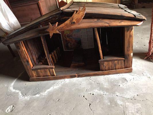 Sgabello in legno da doghe di botte rovere o castagno cm