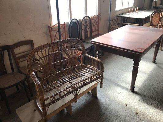 Telematics auction Оцениваемые # 7 стульев деревянный раздвижной