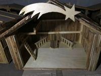 N. 10 casette presepe in bambù di circa 60x40 cm