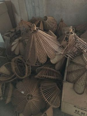 Telematics Auction Stock Of 206 Pieces Of Wicker Chandeliers Of Various  Sizes And Shapes On Sale | DoAuction
