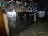 Retro banco refrigerato 3 sportelli con alzata