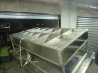Vasca refrigerata statica esposizione mitili interamente realizzata in acciaio ...