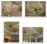 Ventilatore a soffitto con 3 luci