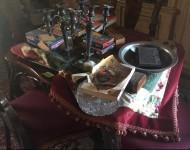 Tavolino da gioco in stile