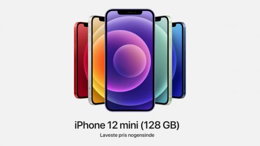 Laveste pris på iPhone 12 mini (128 GB) nogensinde