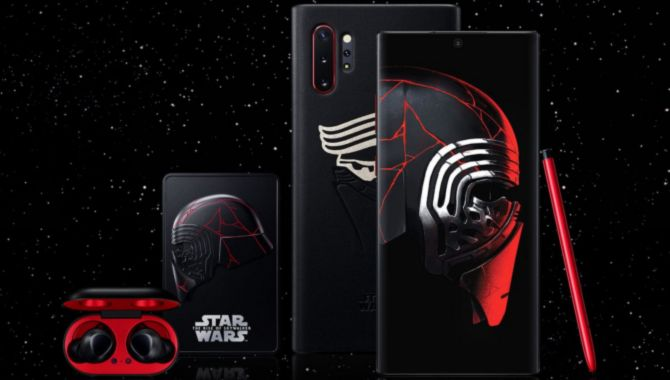 Samsung Galaxy Note 10+ i Star Wars-bundle i butikkerne
