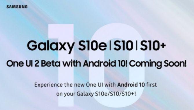 Android 10 til Samsung-telefoner nærmer sig