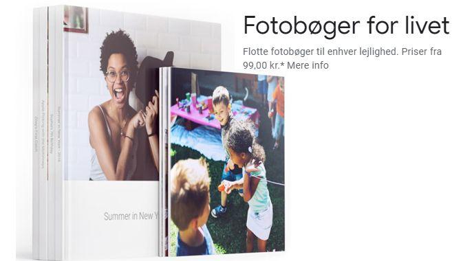 Lav printede fotobøger med Google Fotos