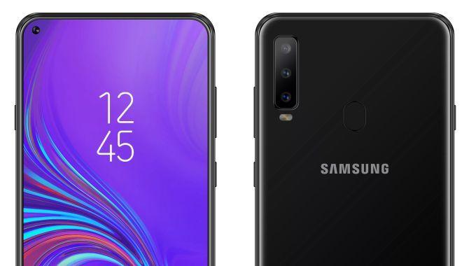 Samsung Galaxy A8s på vej med lillebitte hul i skærmen