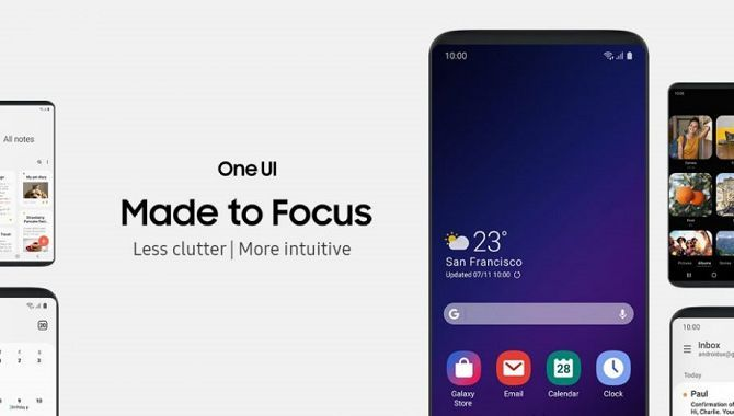 Video viser gennemgang af Samsungs nye One UI