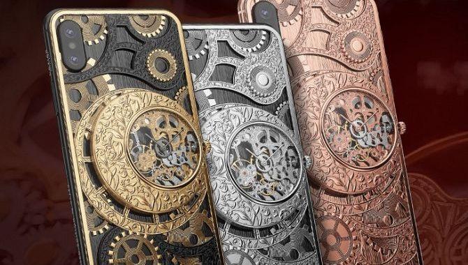 Russisk luksusmærke lancerer iPhone med analogt ur på bagsiden