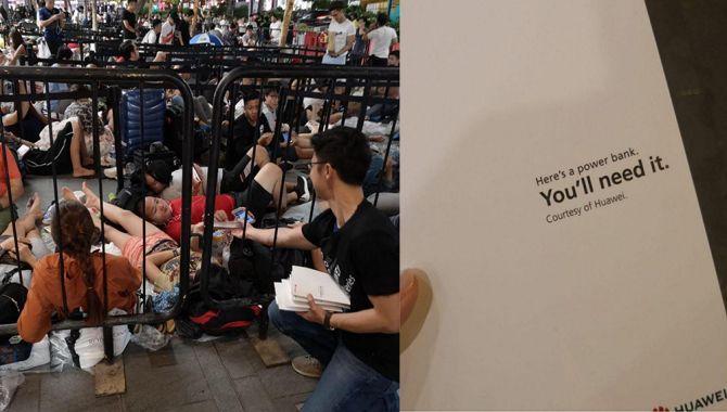 Huawei delte powerbanks ud til folk i kø til iPhone XS