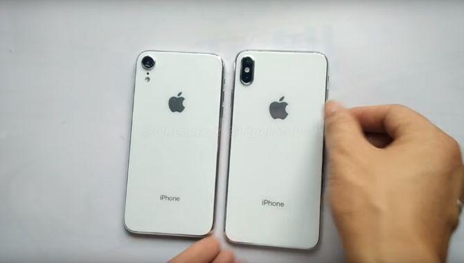 Videoer viser dummy-udgaver af iPhones på 6,1 og 6,5 tommer